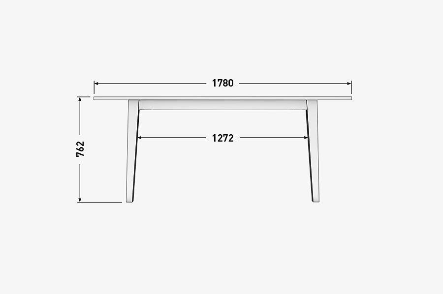 Solenn Design Tisch Knorke 02 Technische Zeichnung Seite